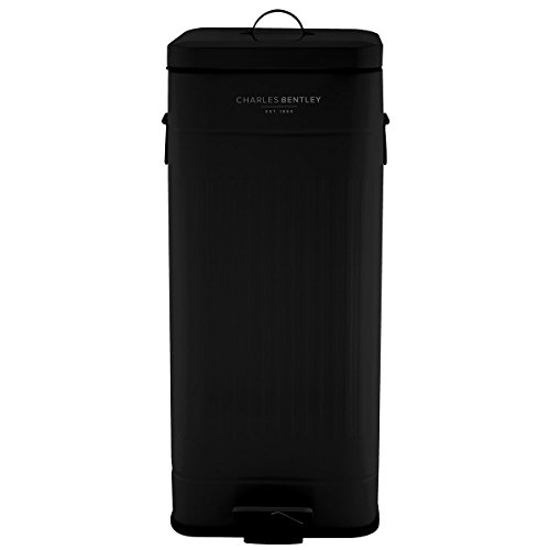 charles-bentley-home-30l-steel-square-retro-kitchen-pedal-rubbish-waste-bin-black-more-colours-avail