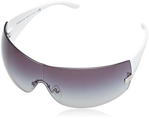 Versace VE2054, Occhiali da Sole Donna, Bianco (White 10008G), Taglia Unica (Taglia Produttore: One Size)