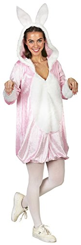 Rosa Hase Kleid Kaninchen Kostüm für Damen - Gr. 36 38