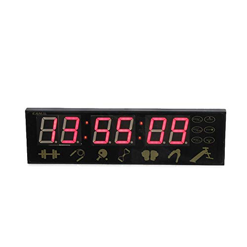 GYJUN Gym Clock Elektronische Trainingspause Intervall Loop Timer 1,5 Zoll 6 Digits