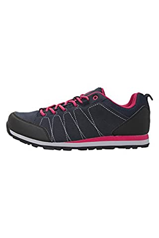 Mountain Warehouse Surrey Women's Shoes - Durable, Breathable Suede & Mesh Upper with EVA Cushioned Footbed, Toe & Heel Bumper, Mesh Lining, Rubber Outsole & Phylon Midsole Navy 5 UK