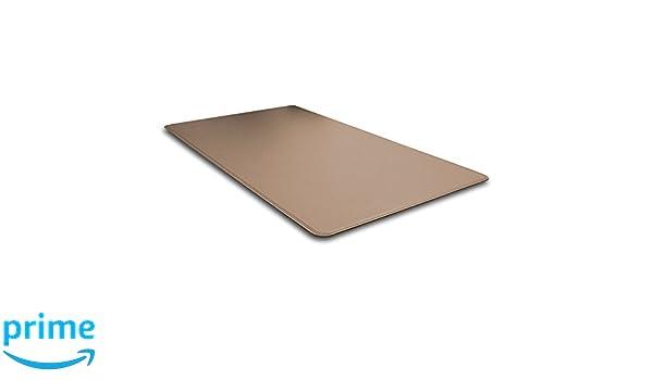 Aufbau aus Stahl Gleitschutz cm 50x35 Schreibtischunterlage Leder Taubengrau
