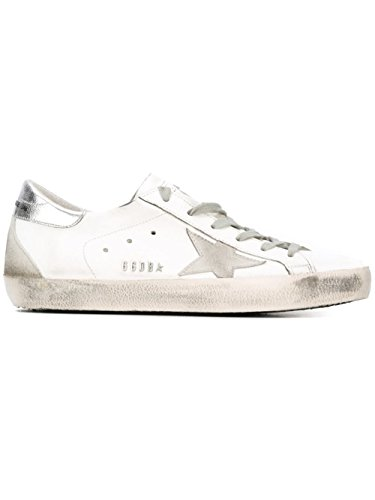 Golden Goose Damen Gcows590w77 Weiss Leder Sneakers (Leder Goose)