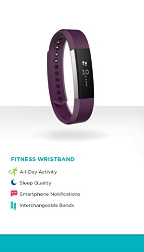 Fitbit Alta Activity Tracker & Fitness Watch – Plum/Large