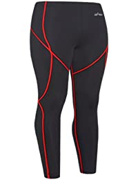 emFraa Homme Femme Running Leggings Compression Base layer Noir Pants S ~ XXL