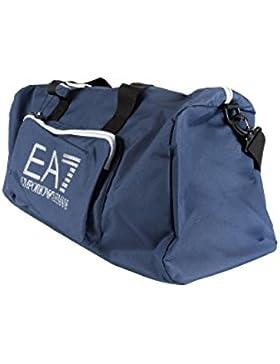 Emporio Armani Borsone a Tracolla in Tessuto Tecnico EA7 Unisex con Manici, Tasche e Logo MOD. 275664