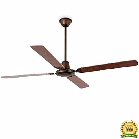 Faro Barcelona Malvinas 33111–Ceiling Moulded steel fan without light. Wooden ply blades, injected steel,