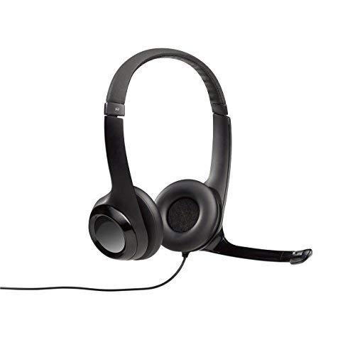 Logitech H390 - Auriculares con micrófono USB, color negro
