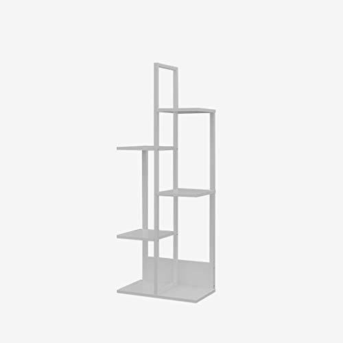 Nussbaum Eck-regal (YST Regal Mehrstöckiges Wohnzimmer im Innenbereich Provinzraum Balkon Hängender Orchideenrahmen Boden Schmiedeeisen Fleisch Blumentopf (Color : A, Size : B-120CM))