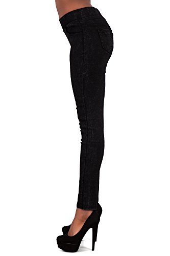 LustyChic - Pantalon - Slim - Femme Noir Noir 34, 36, 38, 40, 42 Black Trousers