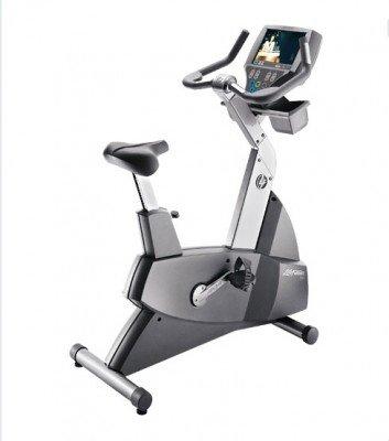 Life Fitness 95CE remanufacturados vertical bicicleta con integrado LCD TV