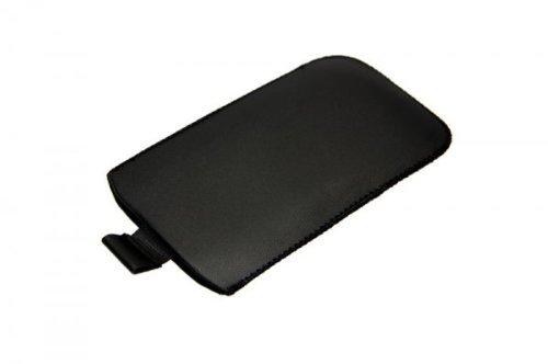 Original Handycop® Etui M schwarz mit Ausziehhilfe - Tasche Hülle mit Auszugband für LG P690 Optimus Net