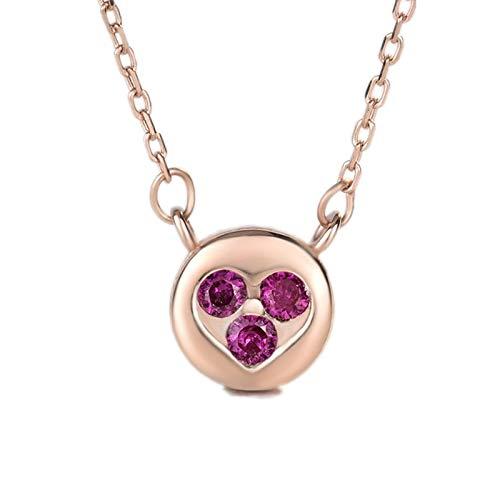 Damen Halskette,S 925 Sterling Silber Rose Gold Halskette Mode Schöpferische Liebe Bubble Zirkon Anhänger Mit Halskette Vielseitig Einfache Schlüsselbein Kette (Günstige Bubble Halskette)