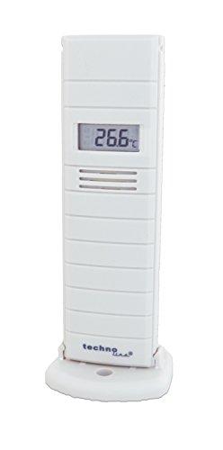 Technoline, Außensender, TX29 DTH-IT, Temperatur- und Luftfeuchtesender mit Display, 868 MHz, weiß, 38 x 21 x 129 mm