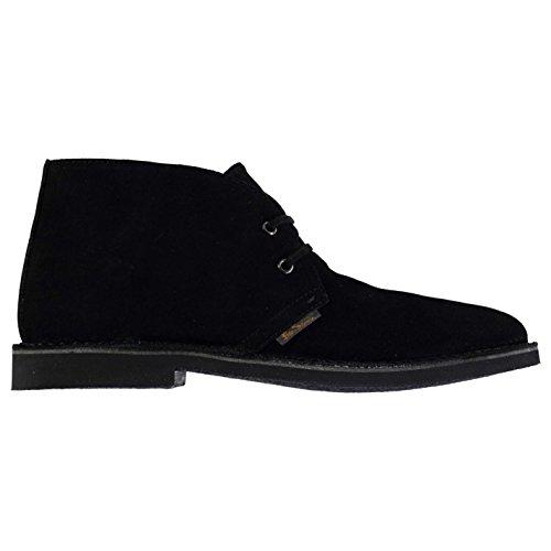 Ben Sherman Herren Hunt Wuestenstiefel Leder Desert Boots Stiefel Stiefeletten Schwarz 11 (45) (Ben Sherman Schuhe Herren)