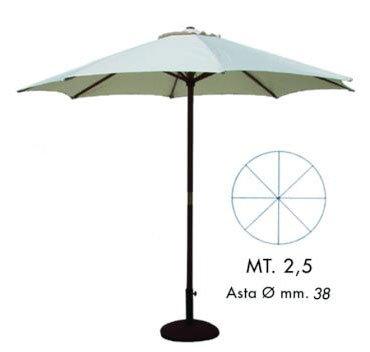 Preisvergleich Produktbild Umbrella Rundholz mt. 2,5 beige