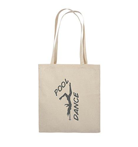 Comedy Bags - POOL DANCE - FIGUR - Jutebeutel - lange Henkel - 38x42cm - Farbe: Schwarz / Silber Natural / Grau