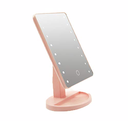 FFFFF Led De Almacenamiento De Escritorio Espejo 360 Espejo De Vanidad Táctil Sensor Táctil