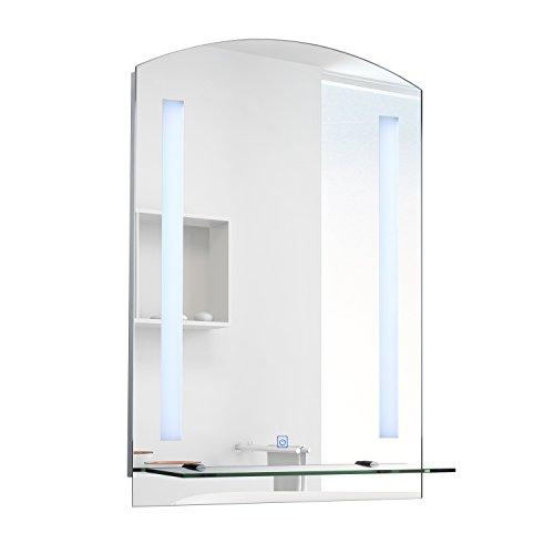 Homcom® LED Spiegelschrank Lichtspiegel Badspiegel Badschrank Badezimmerspiegel Wandspiegel 15W (Modell4)