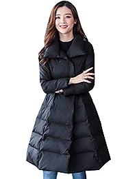 Plumas Mujer Largos Tallas Grandes Abrigos Otoño con Bolsillos Ligeramente Acolchado Chaqueta Acolchada Fashion Especial Estilo