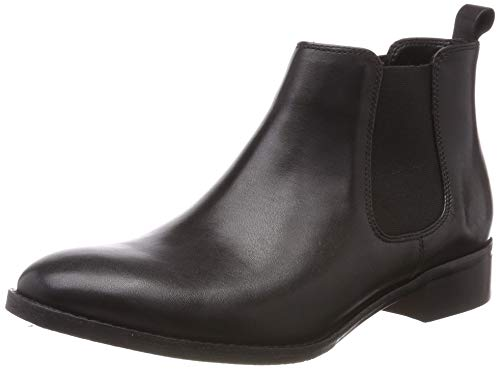 Clarks Damen Netley Ella Stiefeletten, Schwarz (Black Leather), 39 EU