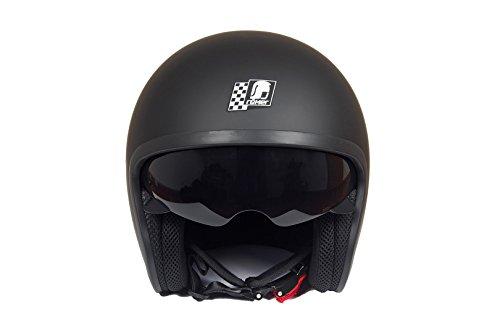 Römer Helmets Motorradhelm Custom, Matt Schwarz, Größe L - 3