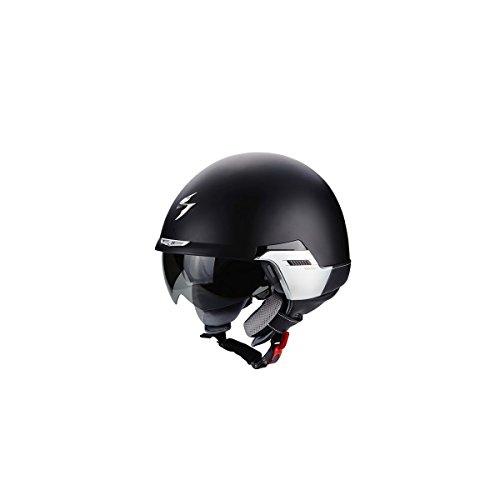 SCORPION 08-173-48-07 EXO Padova II-100 Casque avec Collier Ouverte Face Amovible et Visière Extérieure Noir