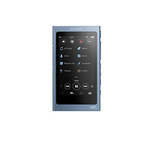 Sony NW-A45HN High Resolution Walkman MP3 Player (16 GB, Touchscreen, Digitalverstärker, Bluetooth, NFC, Hi-Res, bis zu 45 Stunden Akkulaufzeit) mit Noise Cancelling Kopfhörern, Blau