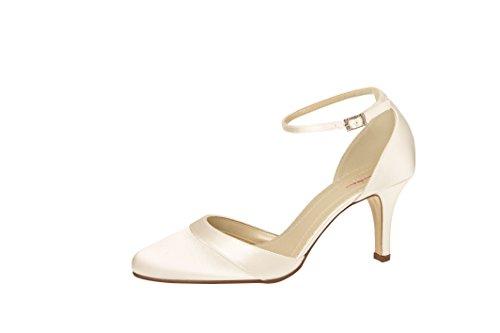 Elsa Coloured Shoes , Bride cheville femme Blanc - Ivory (Elfenbein)
