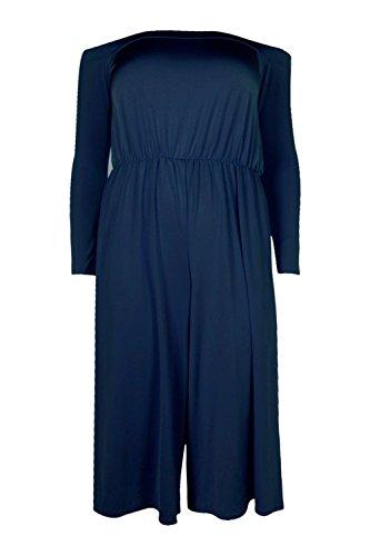 Marine Femmes Plus Danni Combinaison Jupe-culotte À Épaules Dénudées Marine
