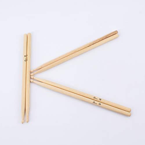 showking 3 Paar Drumsticks Hickory Perch Random Set aus Hickory, 5B, Natur - Drumstick Set mit 6 Walnuss Stöcke / 3er Paar Allround 5 B Hickory Schlagzeugsticks - klangbeisser -