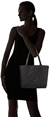 Guess Korry Shopper, Sacs à main Femme, Noir (Nero), Taille Unique