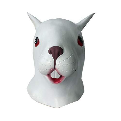 Maske Kostüm Beängstigend Hockey - DingLong Halloween-Häschen-Kopfbedeckung - Kaninchen Stil Maske Schmelzen Gesicht Erwachsene Latex Kostüm Halloween Beängstigend Maske