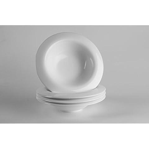 4x piatti fondi per pasta/Insalatiera/piatto/ciotola in porcellana Ø