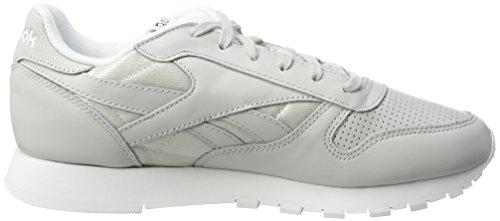 Reebok Damen Classic Leather Fbt Sneaker Weiß (teschio Grigio / Bianco / Argento Metallizzato)