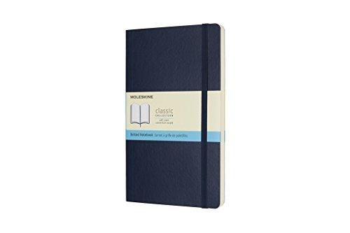 Moleskine Notizbuch, Large, A5, Punktraster, Soft Cover, Saphir