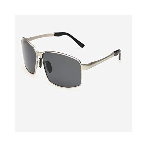 Sport-Sonnenbrillen, Vintage Sonnenbrillen, Polarized Männer Sunglasses WoMänner Male Luxury Goggles Driving Eyewear For Männer,Metal Frame Sunglasses Gafas De Sol Hombre Package A Silver Gray