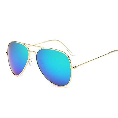 MJDABAOFA Piloten Sonnenbrille Sonnenbrille Frauen/Männer Klassische Polarisierte Aviator Sonnenbrille Eyewear 3025 Gold Blau Grün
