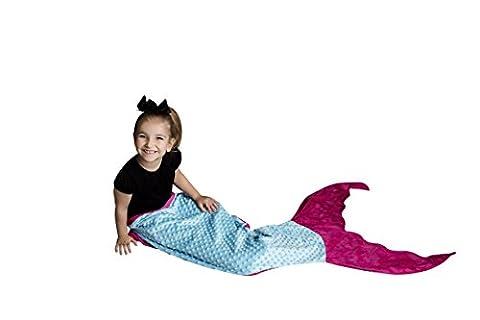 poshpeanut Meerjungfrau Decke Weichsten Minky bequeme Cozy Kuscheldecke für Alter 3–13mit gratis Spielzeug Puppe Decke im lieferumfang enthalten, Turquoise / Pink, Ages 2-8