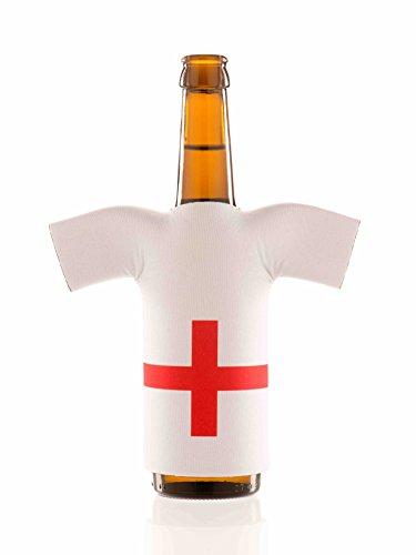 Flaschentrikot England - Flaschenkühler, Bierkühler, Getränkekühler aus Neopren - Fanartikel und Partyspaß zum Grillen, Public Viewing und Feiern