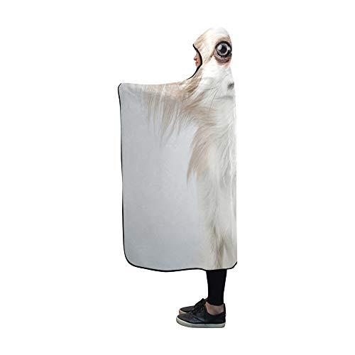 YSJXIM Mit Kapuze Decke Langhaar Chihuahua Weihnachten Weihnachtsmütze Kleine Decke 60 x 50 Zoll Comfotable Mit Kapuze werfen Wrap