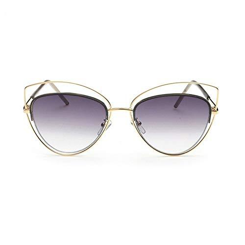 MoHHoM Sonnenbrille Übergroße Spiegel Rosa Sonnenbrille Cat Eye Vintage Sonnenbrille Frauen Weibliche Schattierungen Lady Sonnenbrille Großhandel Farbverlauf Grau