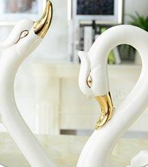 die einfachheit des modernen keramischen dekoration dekoration kreative schwan