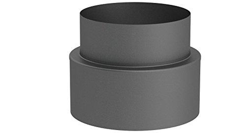 Übergangselement doppelwandig von Schornstein auf Verbindungsleitung (15mm Isolierung), 150mm Innendurchmesser; gussgrau lackiert