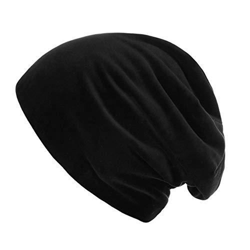 Cebbay Chapeau Femme Homme Bonnet,Plaid Chaud Casquette Baggy Weave Headwear Chemise du Cancer à Volants Musulman Béret,Hiver Turban Beanie Hats Cap