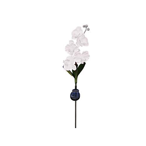 Ruiting Stake Beleuchtung Solarleuchte mit Schmetterling Orchideen-Blume im Freien Stake Lampen dekorativen Weg-Licht