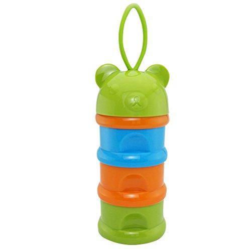 Milchpulverportionierer mit Süßem Bär-Form Babynahrung Snack Container Flasche 3 Schichten Kinder...