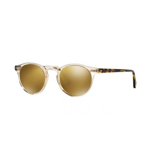 Oliver Peoples - GREGORY PECK SUN OV 5217/S, Rund, Acetat, Herrenbrillen, BUFF DTB/GOLD MIRROR(1485/W4), 47/23/150