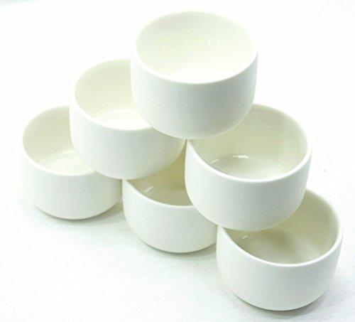 Yankee Candle Teelichthalter, Keramik, glasiert, Weiß, 6 Stück