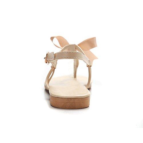 Scarpe Donna Estive - LATH.PIN Casual Infradito con Perlina Arco Pantofole Boemia Dolci Sandali Flat Bianco